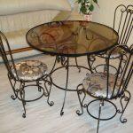 Кованые столы и стулья 003