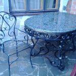 Кованые столы и стулья 017