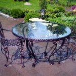 Кованые столы и стулья 004