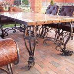 Кованые столы и стулья 012