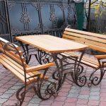 Кованые столы и стулья 013