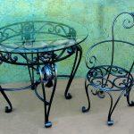 Кованые столы и стулья 001