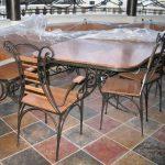 Кованые столы и стулья 006