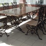 Кованые столы и стулья 008