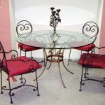 Кованые столы и стулья 007