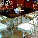 Кованые столы и стулья 015